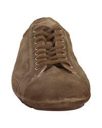 Prada | Brown Sport Bamboo Perforated Suede Sneakers for Men | Lyst