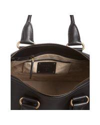 Prada - Black Leather Convertible Tote Bag - Lyst