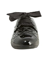 Prada | Sport Black Quilted Patent Leather Cap Toe Oxfords | Lyst