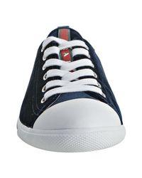 Prada - Sport Blue Velvet Cap Toe Sneakers - Lyst