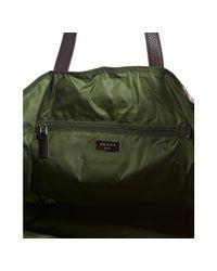 Prada - Dark Brown Plaid Print Nylon Reversible Shopping Tote for Men - Lyst