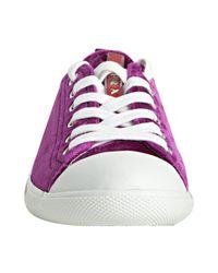 Prada | Purple Sport Fuchsia Velvet Cap Toe Sneakers | Lyst