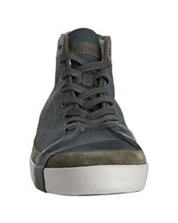 PUMA - Gray Perforated Leather Strecker Hi-top Sneakers for Men - Lyst