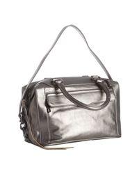 Rebecca Minkoff | Metallic Steel Leather Mab Mini Satchel | Lyst