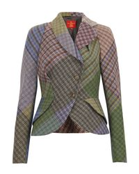 Vivienne Westwood Red Label | Red Patchwork Harris Tweed Jacket | Lyst