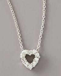 Roberto Coin | White Diamond Heart Pendant Necklace | Lyst