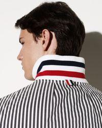 Thom Browne | Gray Striped Seersucker Jacket for Men | Lyst