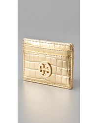 Tory Burch - Metallic Slim Card Case - Lyst