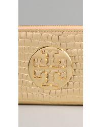 Tory Burch   Metallic Zip Continental Wallet   Lyst