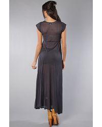 Wildfox - The True Love Piper Maxi Dress in Dirty Black - Lyst