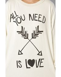 Wildfox - All You Need Is Love Sweater in White - Lyst