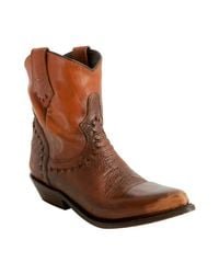 Ash | Natural Honey Distressed Leather Dylan Cowboy Boots | Lyst