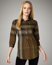 Burberry Brit - Brown Exploded-check Tunic - Lyst