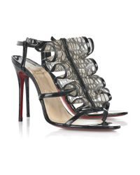 Christian Louboutin | Black Fortitia 100 Sandals | Lyst