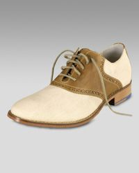 Cole Haan | Natural Air Colton Saddle Oxford, Cream/brown for Men | Lyst