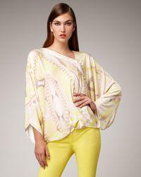 Emilio Pucci | Yellow Light-print Poncho Top | Lyst
