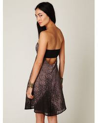 Free People | Gray Stormy Nights Tube Dress | Lyst
