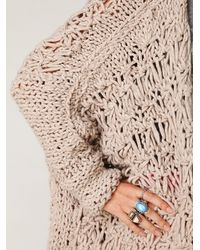 Free People - Natural Cashmere Crochet Cardigan - Lyst