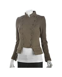 Free People - Natural We The Free Olive Cotton Stretch Majorette Double Breasted Jacket - Lyst