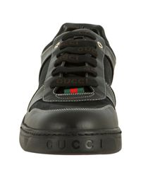 Gucci | Black Gg Canvas Lace-up Sneakers for Men | Lyst