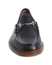 Gucci | Blue Ink Leather Horsebit Loafers for Men | Lyst