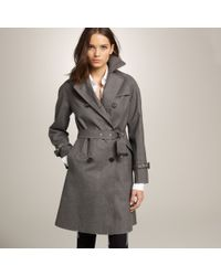 J.Crew | Gray Mackintosh® Dollar Trench Coat in Bonded Wool Flannel | Lyst