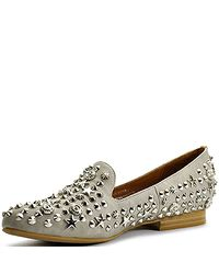 Jeffrey Campbell | Gray Elegant - Grey Leather Studded Loafer | Lyst