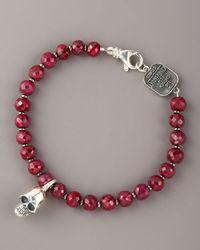 King Baby Studio | Red 7mm Ruby Bead Bracelet for Men | Lyst