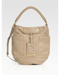 Marc By Marc Jacobs | Natural Preppy Leather Hobo Bag | Lyst