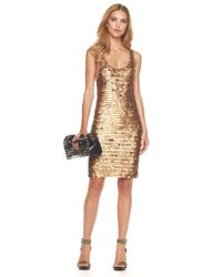 Michael Kors | Metallic Paillette Dress | Lyst