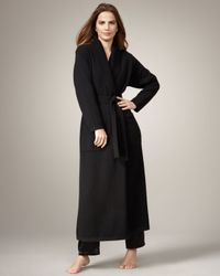 Neiman Marcus | Long Cashmere Robe, Black | Lyst