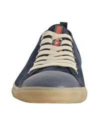 Prada | Blue Sport Ultramarine Suede Cap Toe Sneakers for Men | Lyst