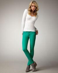 Rag & Bone | The Skinny Kelly Green Jeans | Lyst