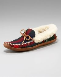 Ralph Lauren | Blue Yarmond Slipper, Navy Plaid for Men | Lyst
