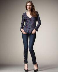 Textile Elizabeth and James | Blue Harrison Button Skinny Jeans | Lyst