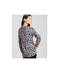 Tory Burch | Blue Robin Printed Silk Tunic | Lyst