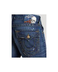 True Religion - Blue Ricky Straight Leg Pioneer Jeans for Men - Lyst