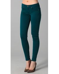 7 For All Mankind | Green Gwenevere Gummy Jeans | Lyst