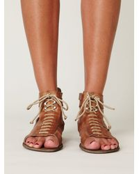Free People | Brown Belou Sandal | Lyst
