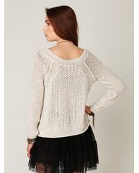 Free People | White Marled Yarn Pullover | Lyst