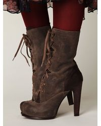Free People | Brown Hoss Victorian Boot | Lyst