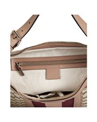 Gucci - Natural Beige and Wine Gg Canvas Vintage Web Medium Hobo - Lyst