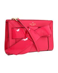 kate spade new york | Pink Bow Valley Astra | Lyst