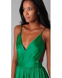 One By - Green Babs Bibb Maxi Dress - Lyst