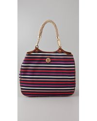 Tory Burch | Purple Channing Tote | Lyst