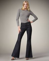 7 For All Mankind | Blue Erin Mercer Flap-pocket Trouser Jeans | Lyst
