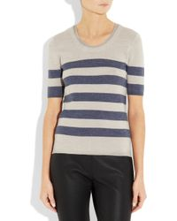 Burberry Brit | Blue Striped Wool and Linen-blend Sweater | Lyst