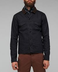 Comune - Blue Braydon Jacket in Coated Indigo for Men - Lyst