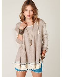 Free People | Bonfire Baja Hoodie in Brown Heather | Lyst