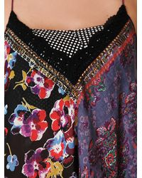 Free People - Blue Patchwork Scarf Cami - Lyst